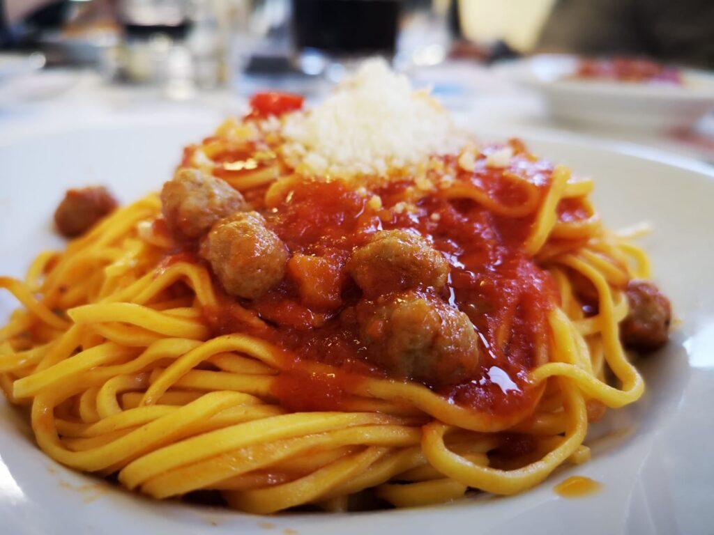 spaghetti chitarra con pallottine